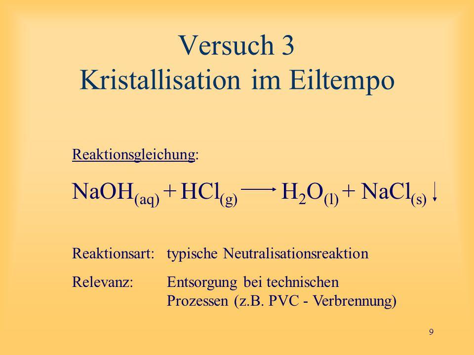 20 Demonstration 1 Dichte einer konzentrierten Salzlösung Kunststoffmüll-Trennung: Wasser NaCl-LsgNa 2 S 2 O 3 -Lsg ρ = 1,0 g/cm 3 ρ = 1,18 g/cm 3 ρ = 1,4 g/cm 3 alle Kunststoffe schwimmen PVC und PET sinken ab PP schwimmt PS sinkt ab