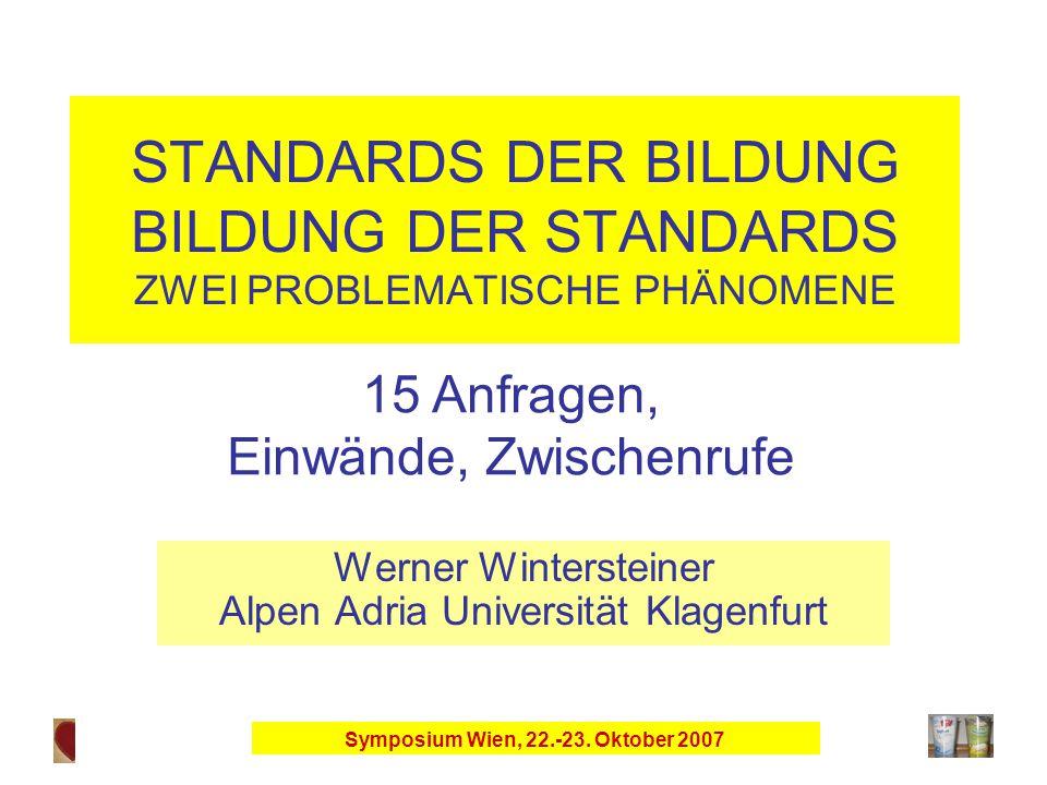 Symposium Wien, 22.-23.