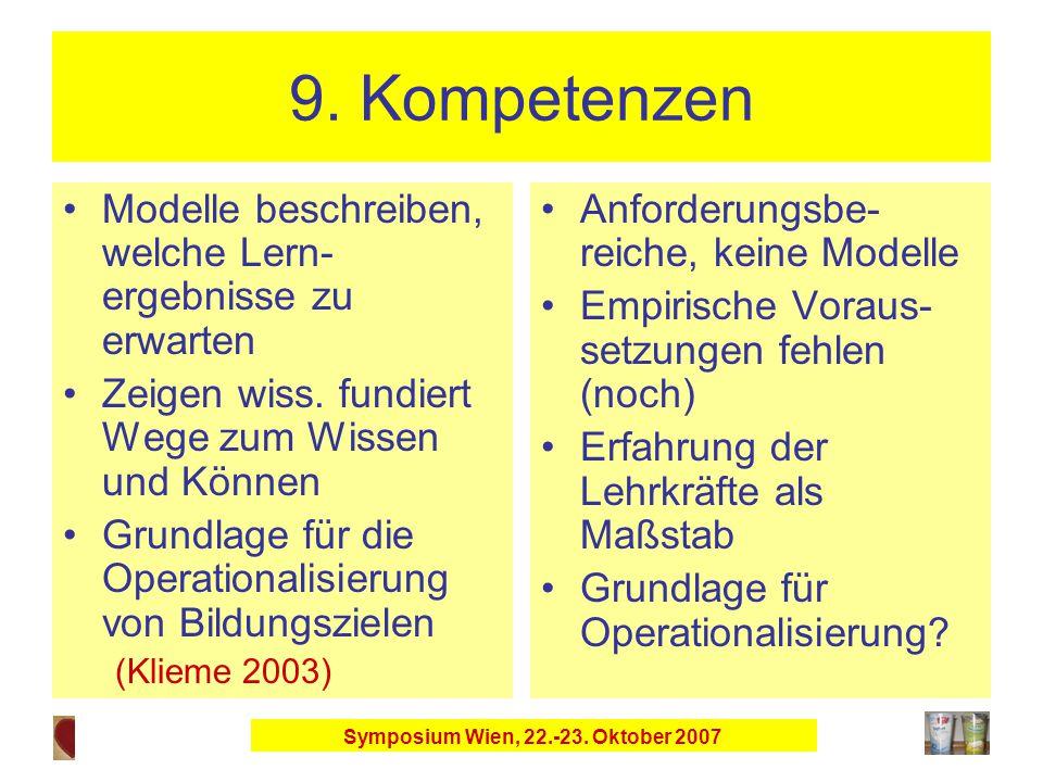 Symposium Wien, 22.-23. Oktober 2007 9.