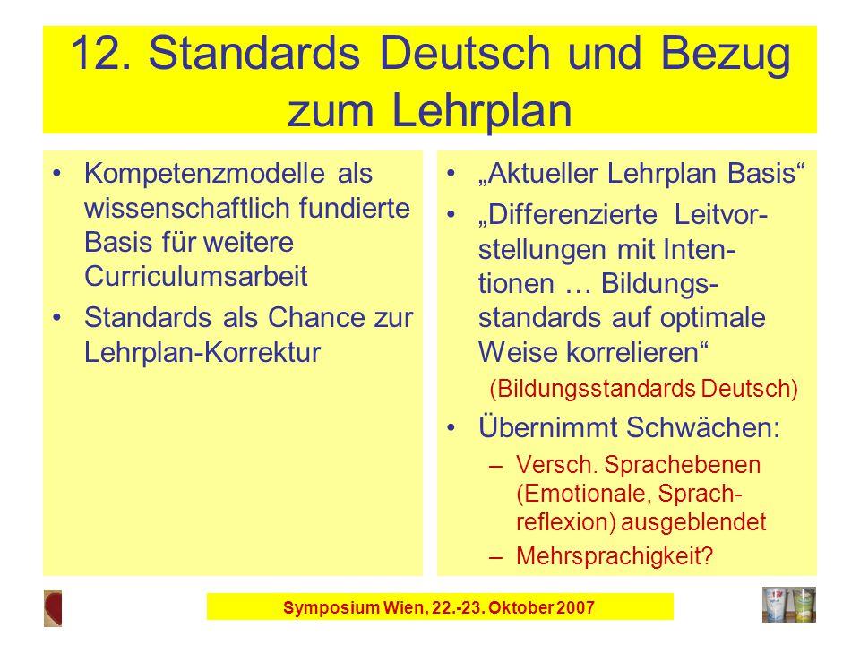 Symposium Wien, 22.-23. Oktober 2007 12.