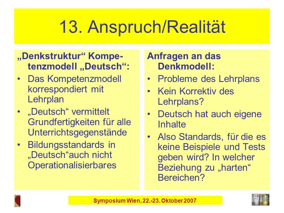 Symposium Wien, 22.-23. Oktober 2007 13.