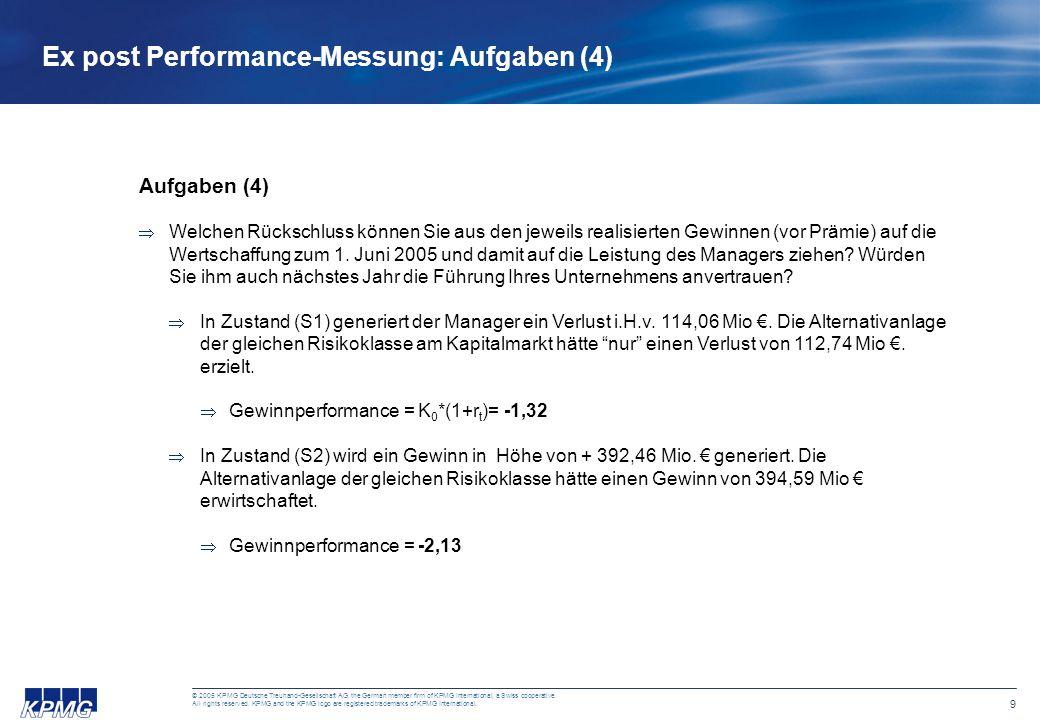 9 © 2005 KPMG Deutsche Treuhand-Gesellschaft AG, the German member firm of KPMG International, a Swiss cooperative. All rights reserved. KPMG and the