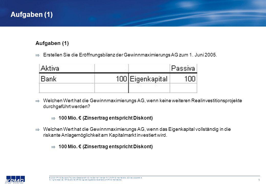 1 © 2005 KPMG Deutsche Treuhand-Gesellschaft AG, the German member firm of KPMG International, a Swiss cooperative. All rights reserved. KPMG and the