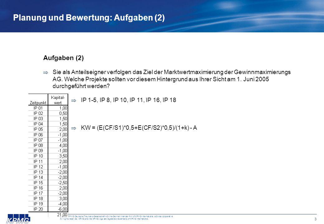 3 © 2005 KPMG Deutsche Treuhand-Gesellschaft AG, the German member firm of KPMG International, a Swiss cooperative. All rights reserved. KPMG and the