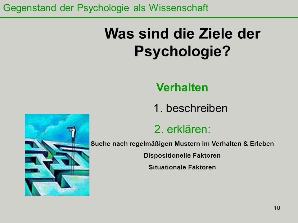 10 Was sind die Ziele der Psychologie.Verhalten 1.