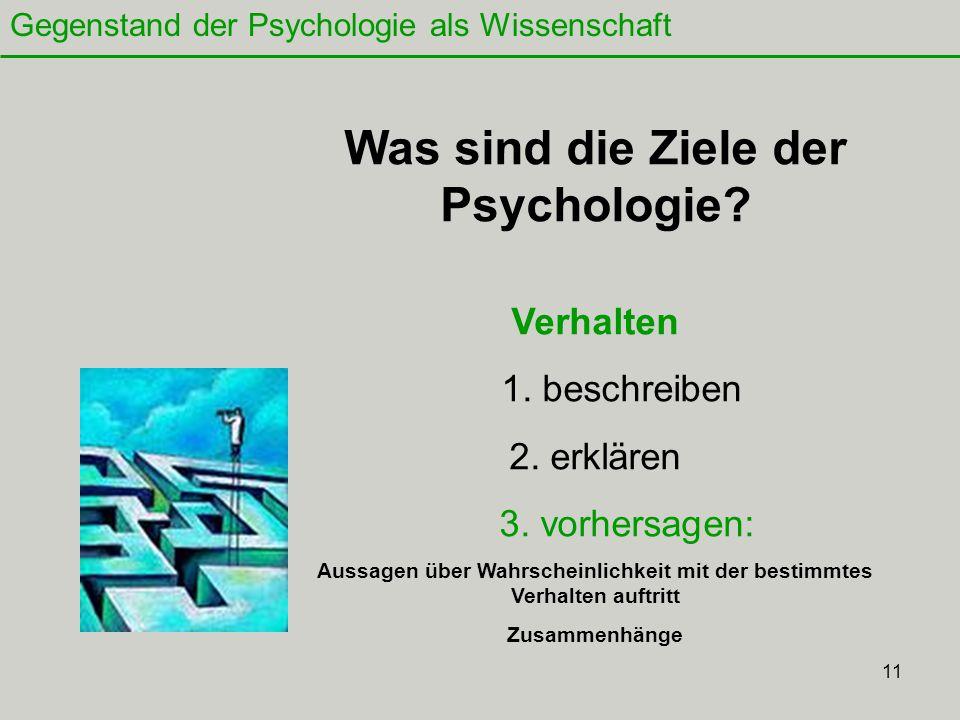 11 Was sind die Ziele der Psychologie.Verhalten 1.
