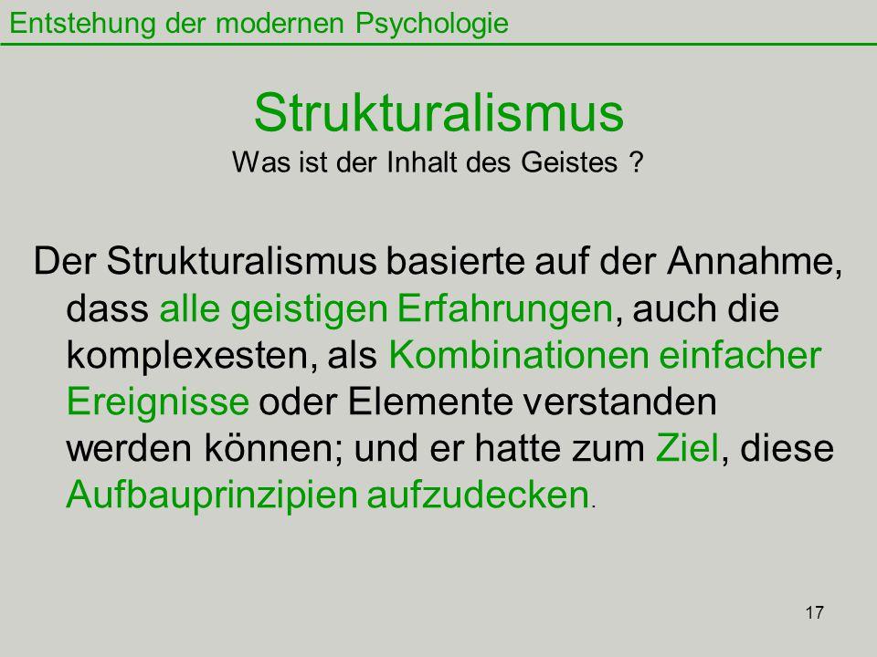 17 Strukturalismus Was ist der Inhalt des Geistes .