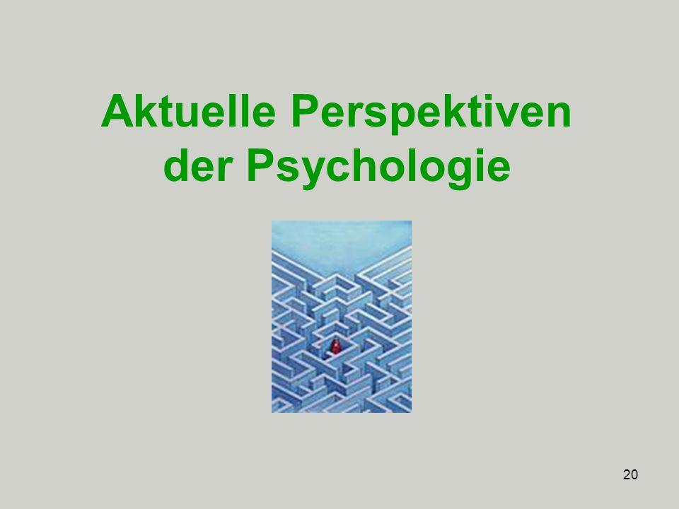 20 Aktuelle Perspektiven der Psychologie