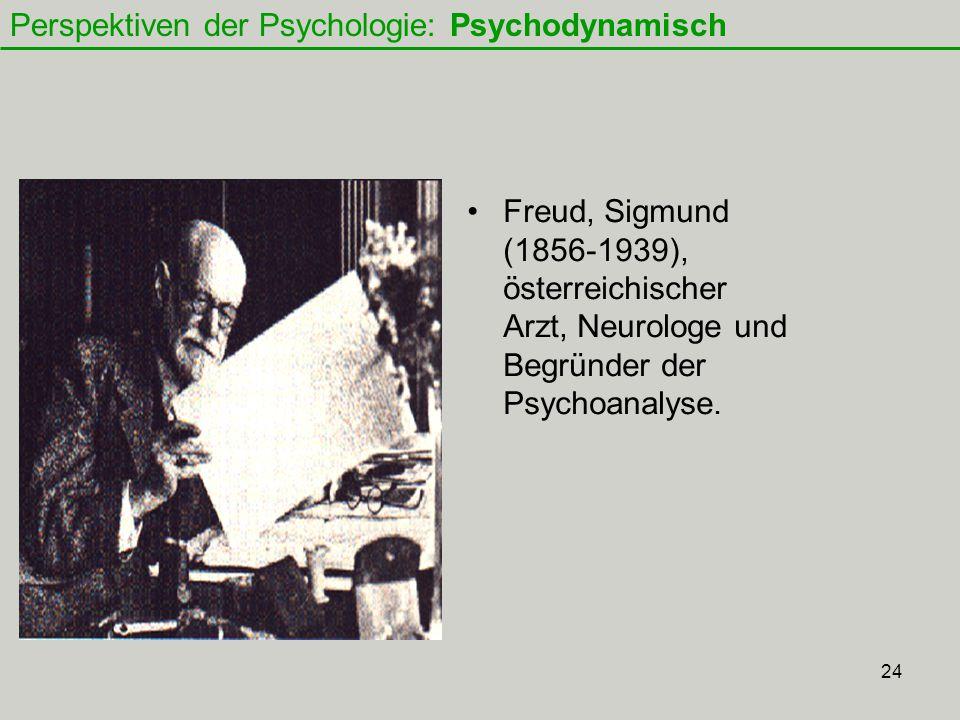 24 Freud, Sigmund (1856-1939), österreichischer Arzt, Neurologe und Begründer der Psychoanalyse.