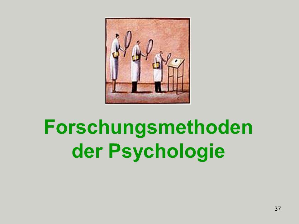 37 Forschungsmethoden der Psychologie