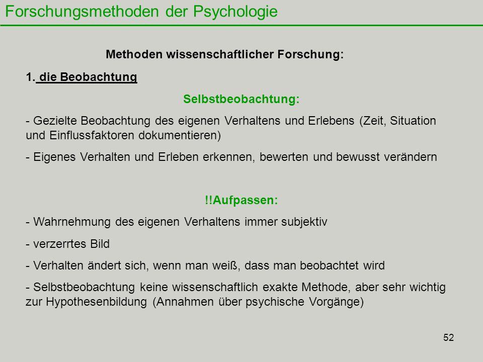 52 Forschungsmethoden der Psychologie 1.