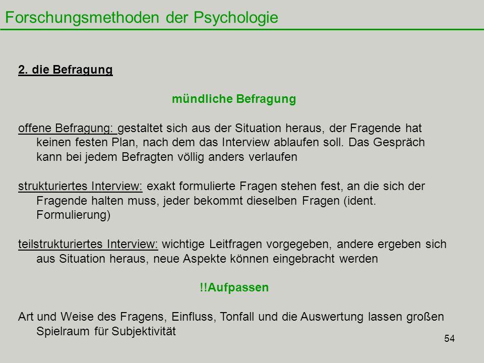 54 Forschungsmethoden der Psychologie 2.