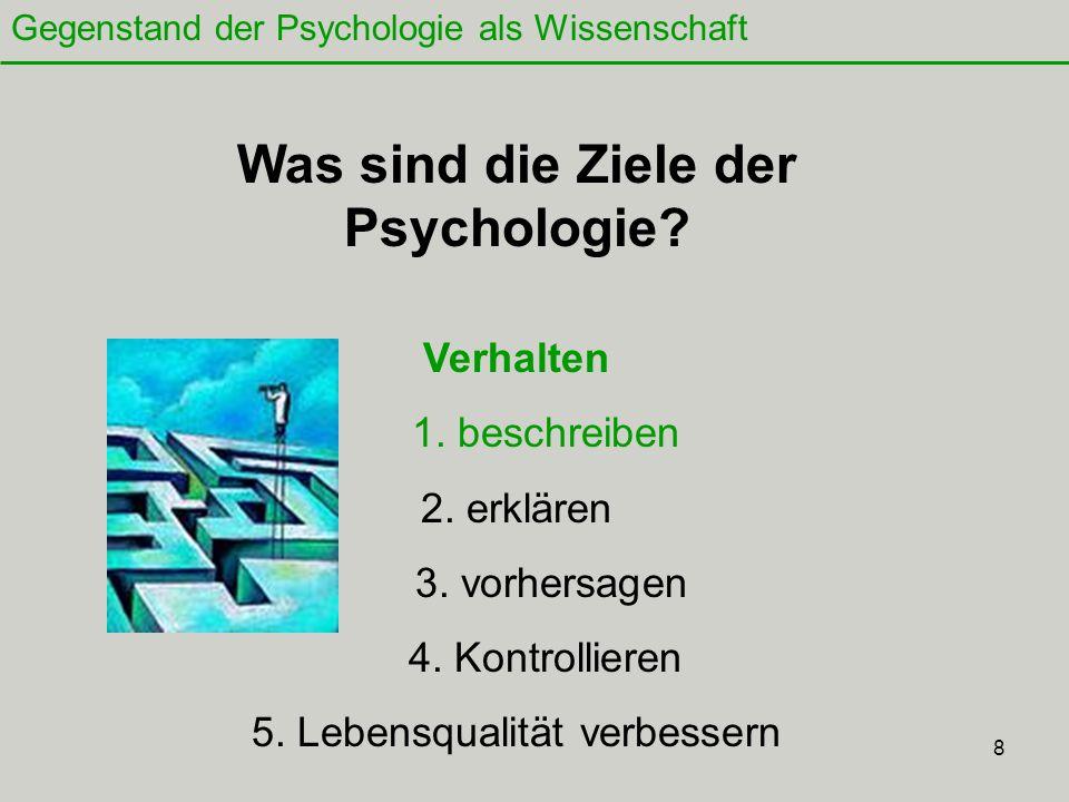 8 Was sind die Ziele der Psychologie.Verhalten 1.