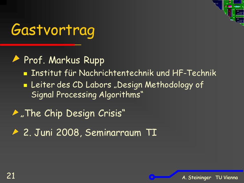 A. Steininger TU Vienna 21 Gastvortrag Prof.