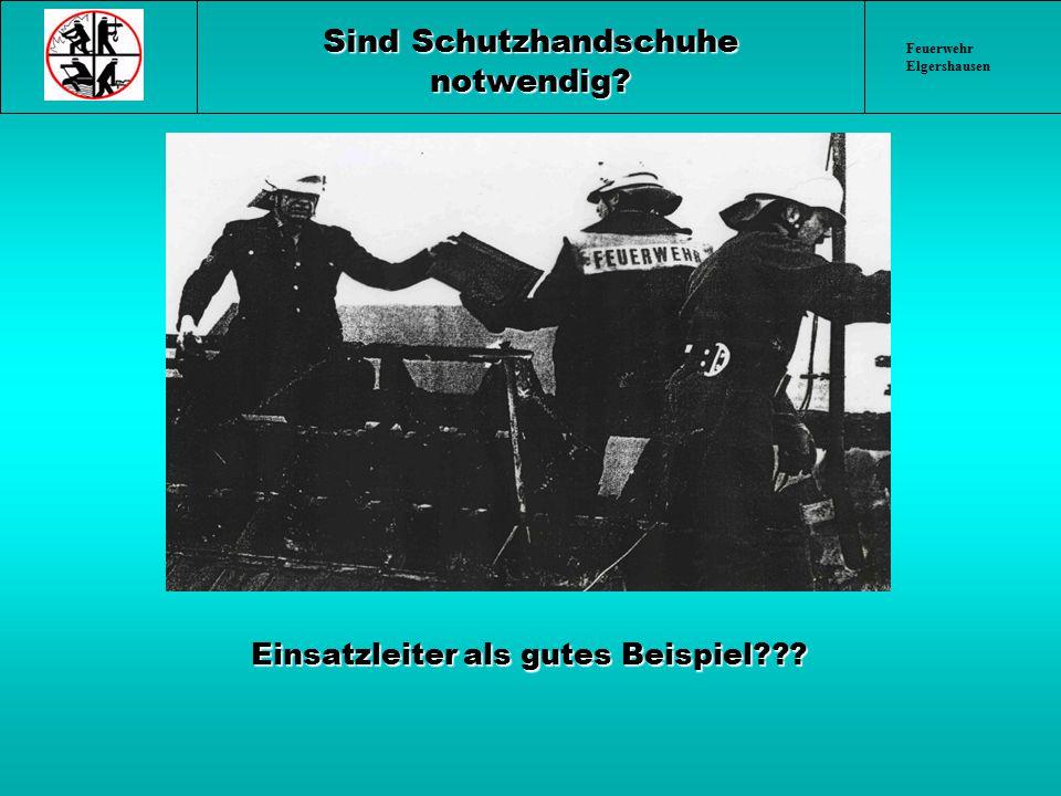Feuerwehr Elgershausen Einsatzleiter als gutes Beispiel??? Einsatzleiter als gutes Beispiel??? Sind Schutzhandschuhe notwendig?