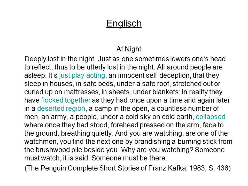 Spanisch De noche ¡Hundirse en la noche.