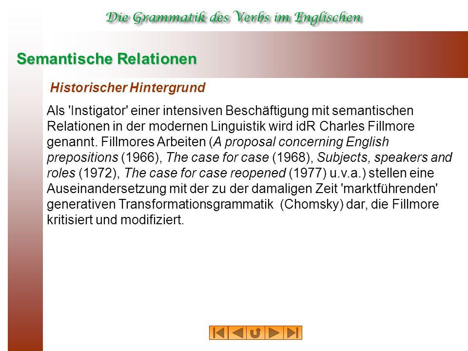 Semantische Relationen Historischer Hintergrund Als 'Instigator' einer intensiven Beschäftigung mit semantischen Relationen in der modernen Linguistik
