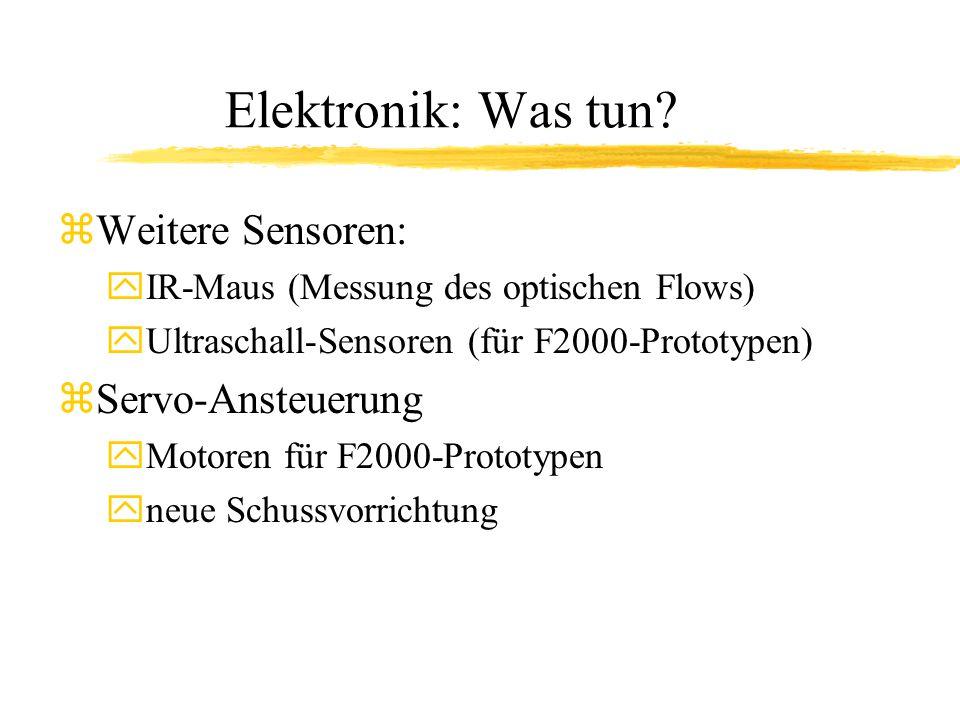 Elektronik: Was tun.