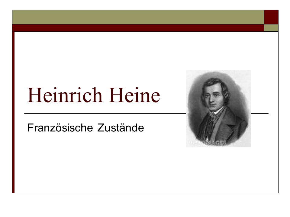 Heinrich Heine Französische Zustände