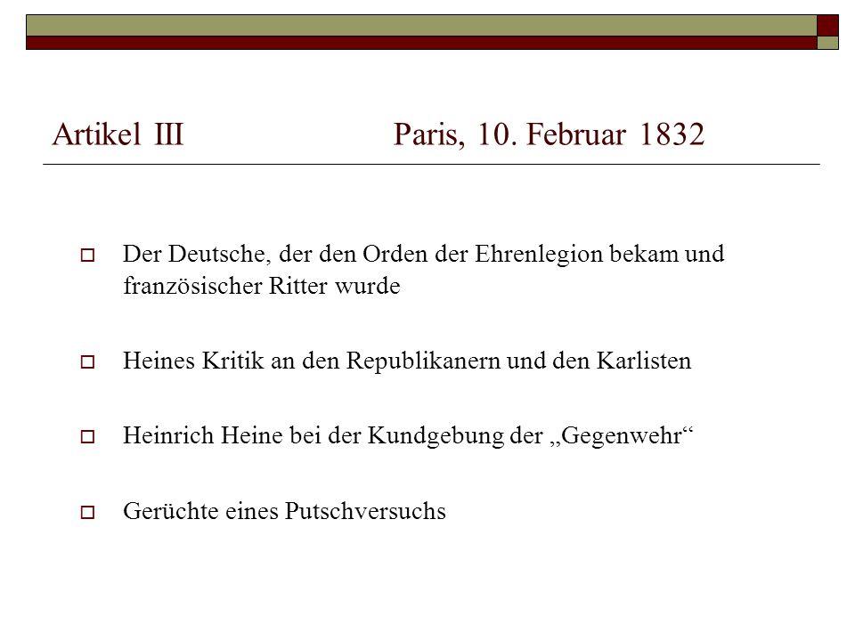 Artikel IIIParis, 10.