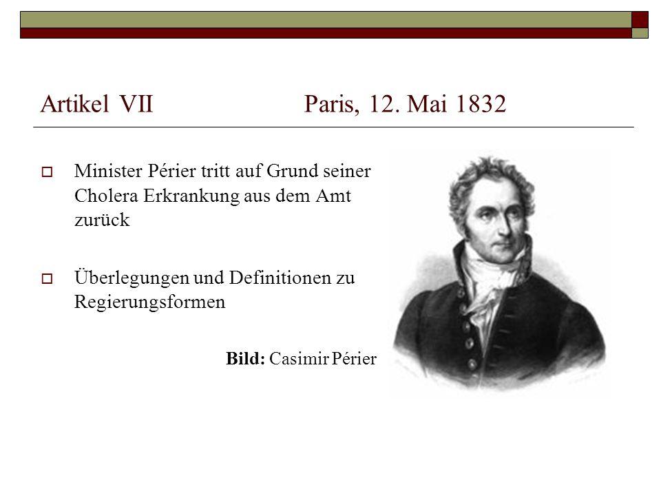 Artikel VIIParis, 12.