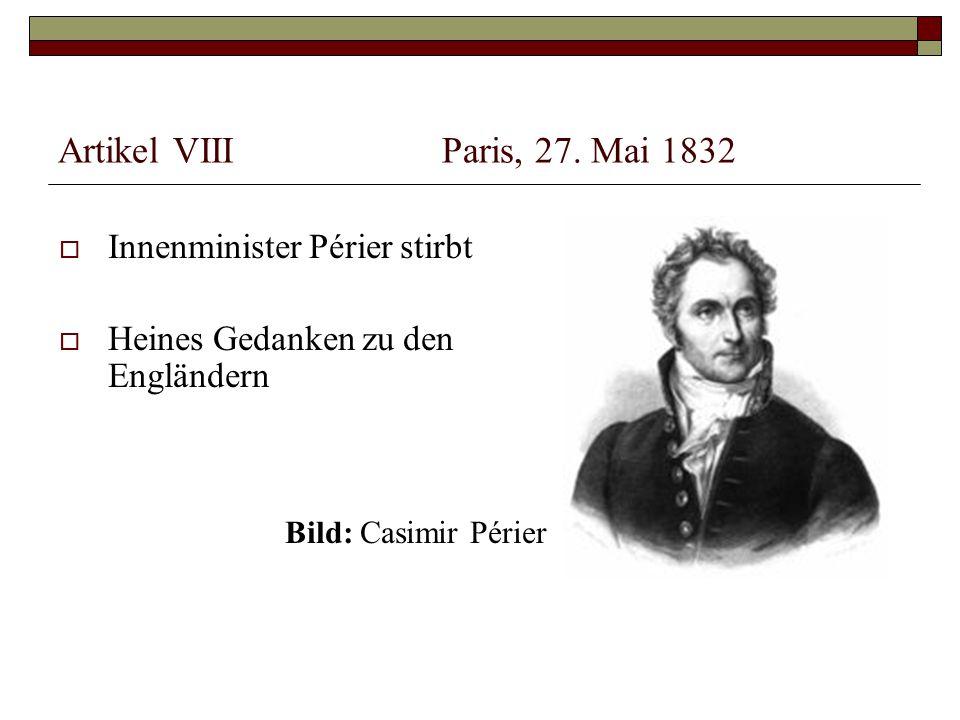 Artikel VIIIParis, 27.