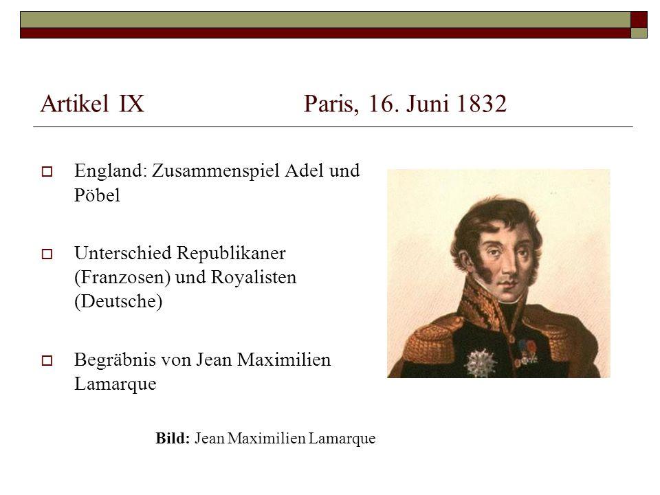 Artikel IXParis, 16.