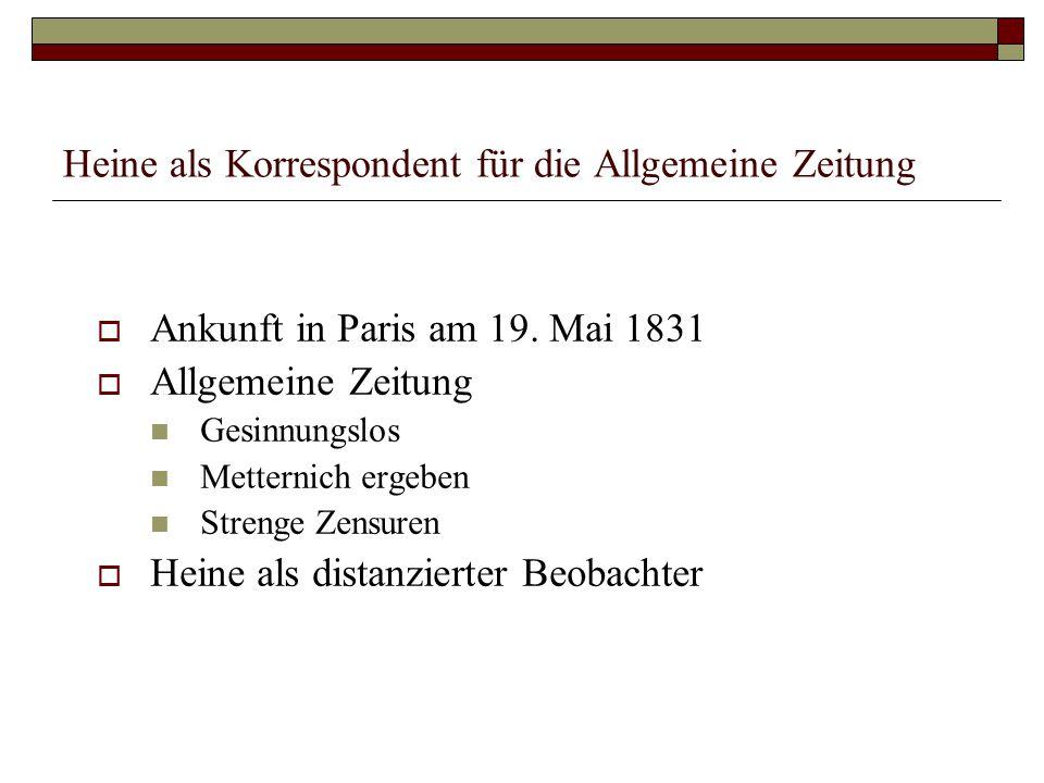 """Heines Vorrede zu seiner Artikelserie  Die deutschen Länder im Spannungsverhältnis Österreich - Preußen  Die sechs Artikel des """"Bundesbeschlusses über Maßregeln der gesetzlichen Ordnung und Ruhe in Deutschland vom 28."""