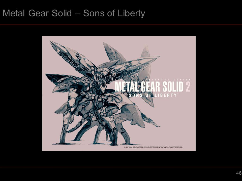 46 Metal Gear Solid – Sons of Liberty