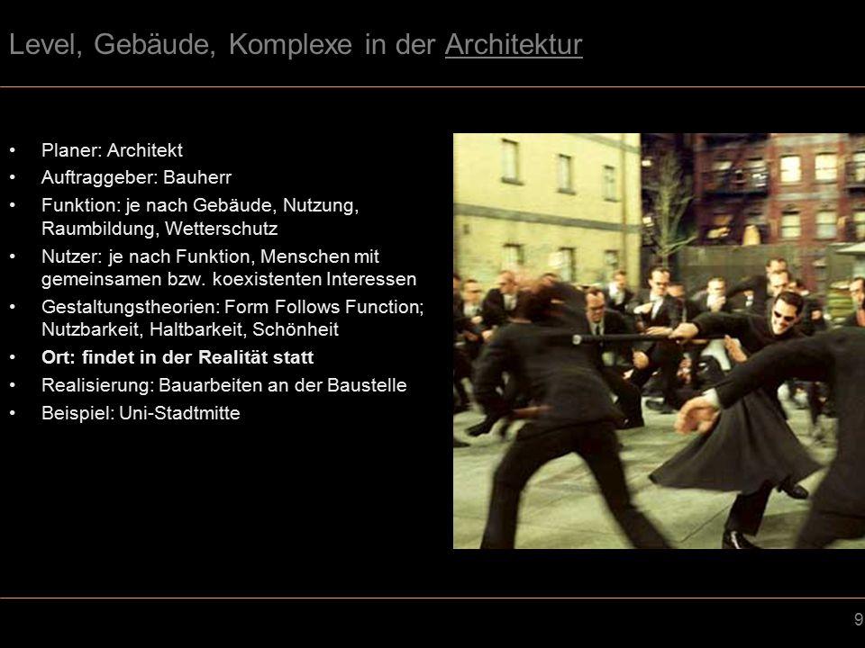 40 Optik & Atmosphäre - Ästhetik Videospiel –Häufig anderes Verständnis von Ästhetik –Beispiel: Plattenbauten im Egoshooter Stalker Architektur –Plattenbauten in Sophia