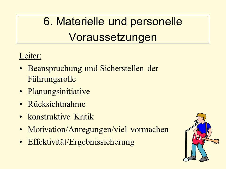 Leiter: Beanspruchung und Sicherstellen der Führungsrolle Planungsinitiative Rücksichtnahme konstruktive Kritik Motivation/Anregungen/viel vormachen E