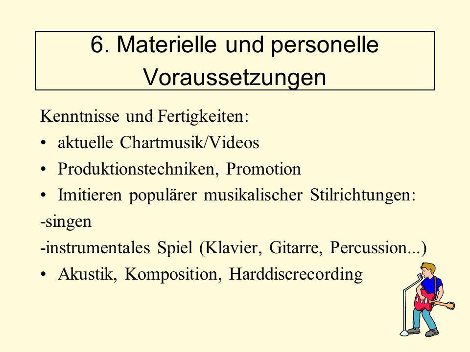 Kenntnisse und Fertigkeiten: aktuelle Chartmusik/Videos Produktionstechniken, Promotion Imitieren populärer musikalischer Stilrichtungen: -singen -ins