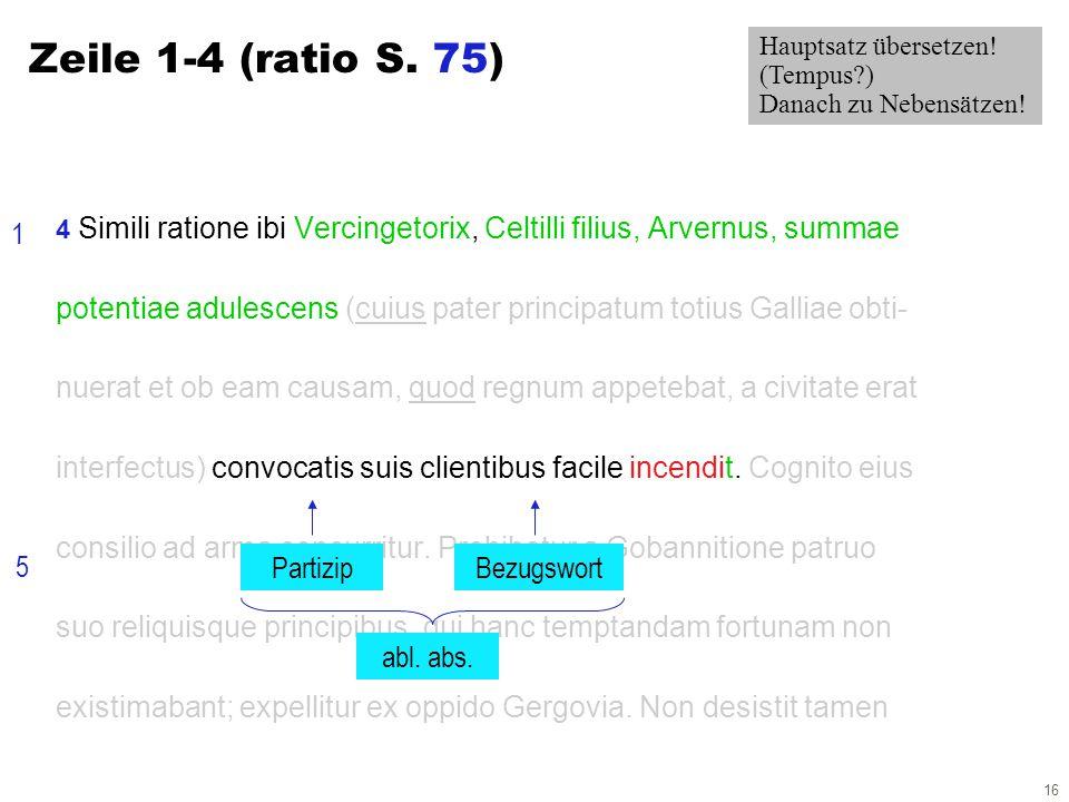 16 4 Simili ratione ibi Vercingetorix, Celtilli filius, Arvernus, summae potentiae adulescens (cuius pater principatum totius Galliae obti- nuerat et
