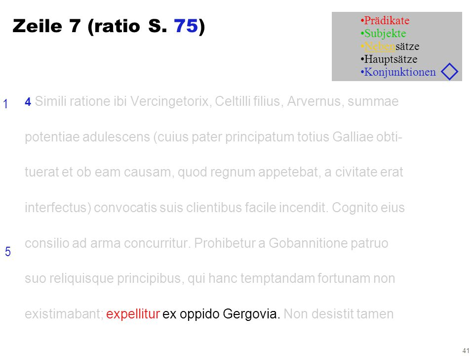 41 Zeile 7 (ratio S.