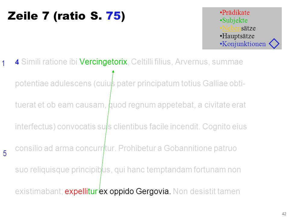 42 Zeile 7 (ratio S.