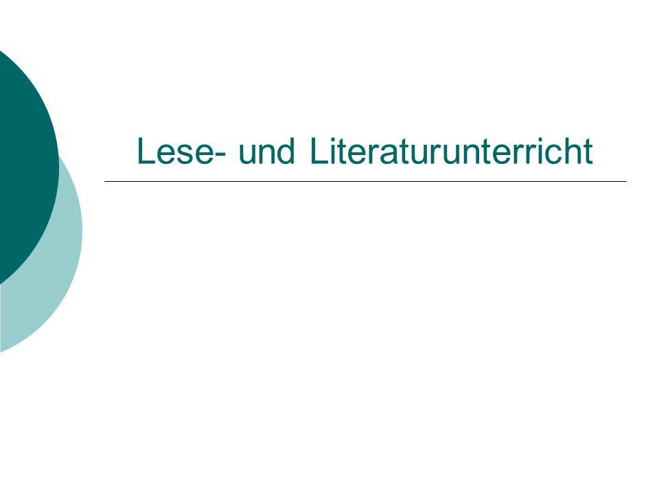 Lese- und Literaturunterricht