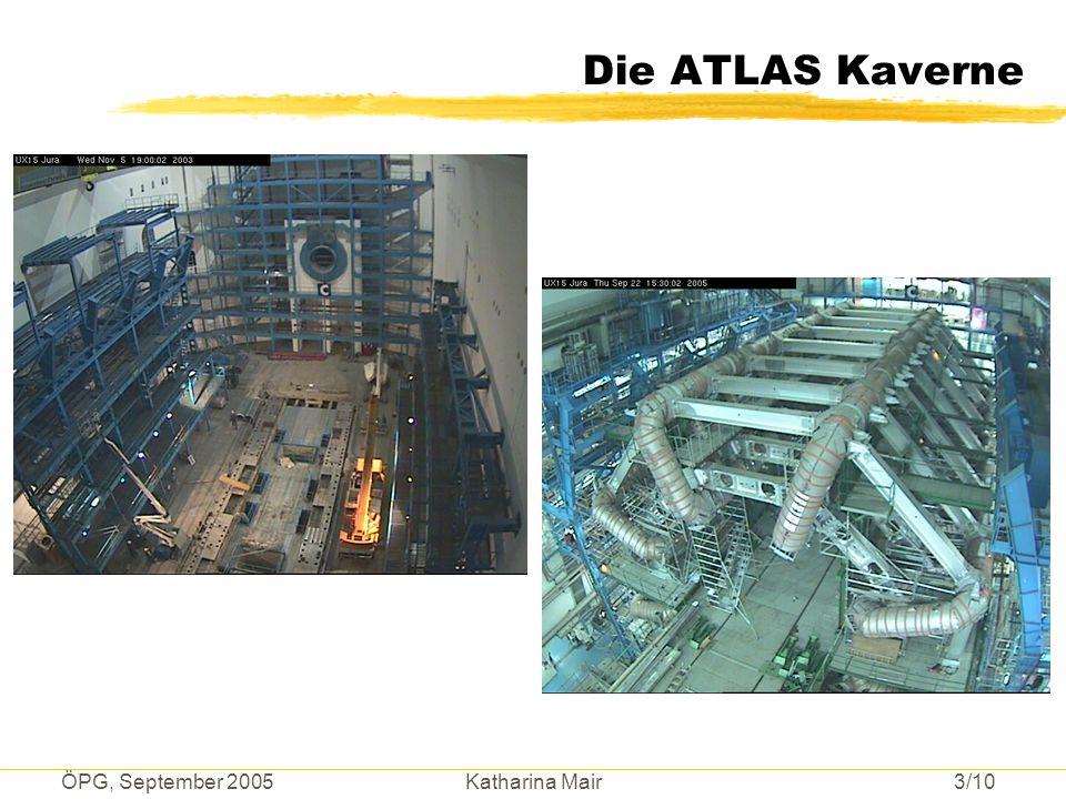 ÖPG, September 2005 Katharina Mair 3/10 Die ATLAS Kaverne