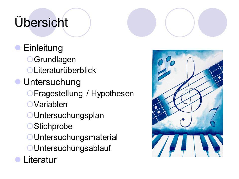 Fragestellungen 3.Unterscheiden sich Musiker und Nichtmusiker in der Erkennung von doppeldeutigen Tönen sowie in ihrem Unsicherheitsmaß.