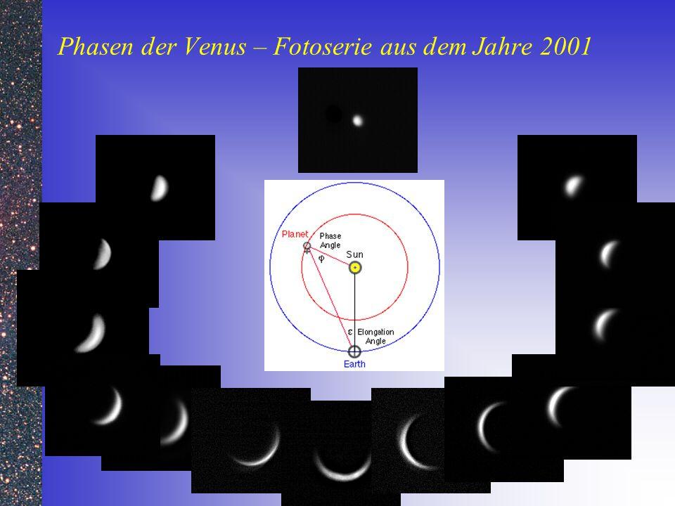 Phasen der Venus – Fotoserie aus dem Jahre 2001