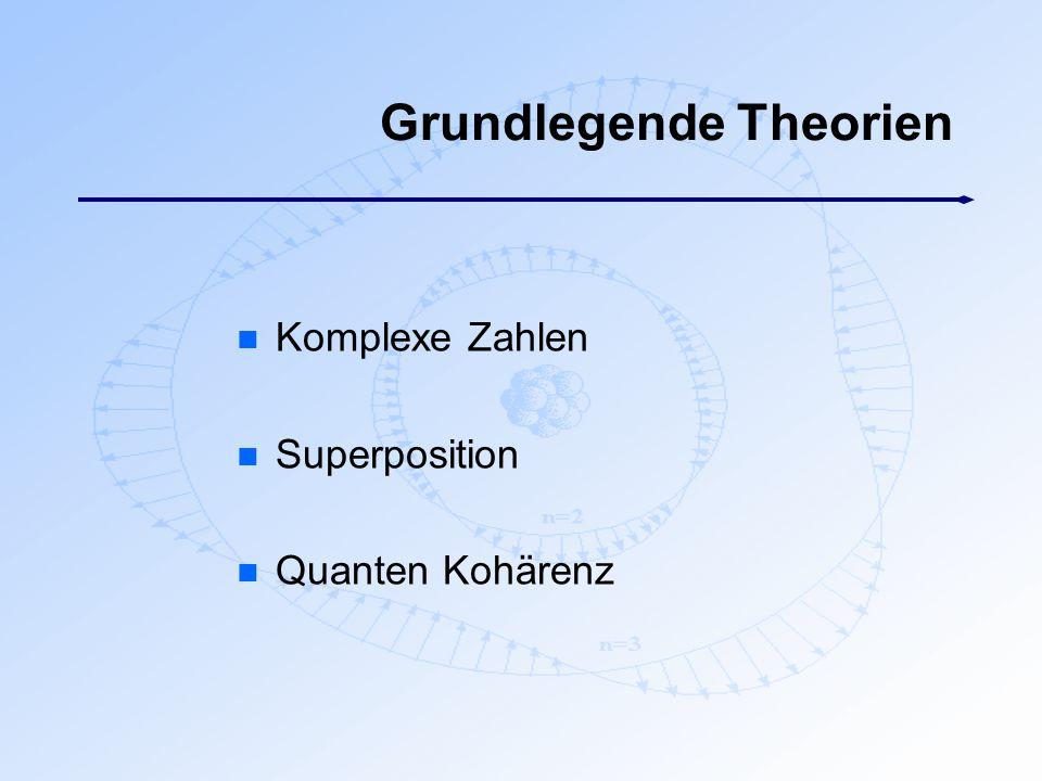 Grundlegende Theorien n Komplexe Zahlen n Superposition n Quanten Kohärenz