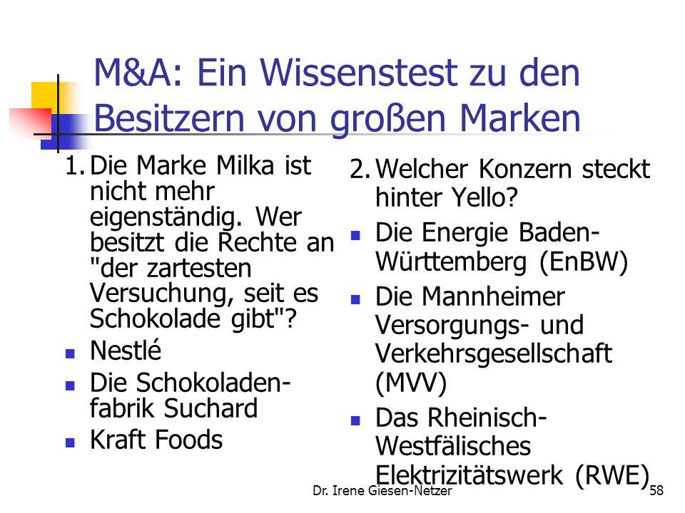 57 Markteintrittsstrategien 20.12.2007 Studie: Europa überholt USA im Geschäft mit Übernahmen und Fusionen FRANKFURT (dpa-AFX) - Im weltweiten Rekordj