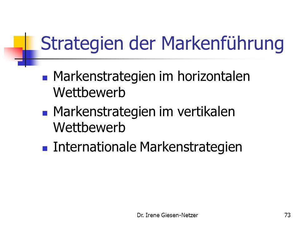 72 Managementprozess der Markenführung Markenpenetration Markenadaption- Controlling Kundenanalyse, Unternehmensressourcen Erreichung einer dominieren