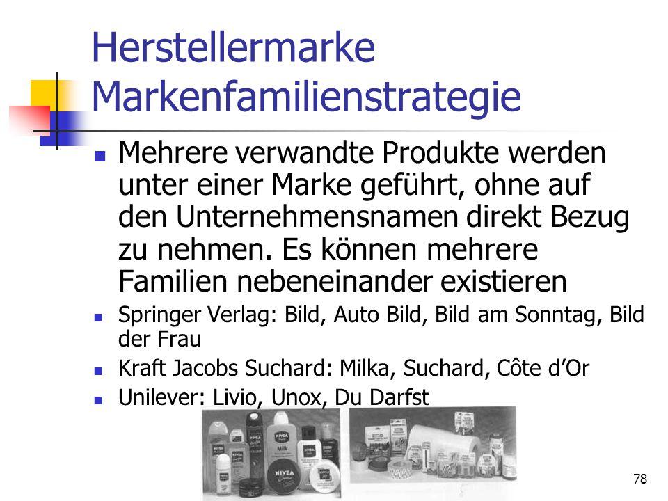 77 Vergleich Einzel- und Mehrmarke Quelle: Meffert, H., Burmann, Ch., Koers, M., Markenmanagement