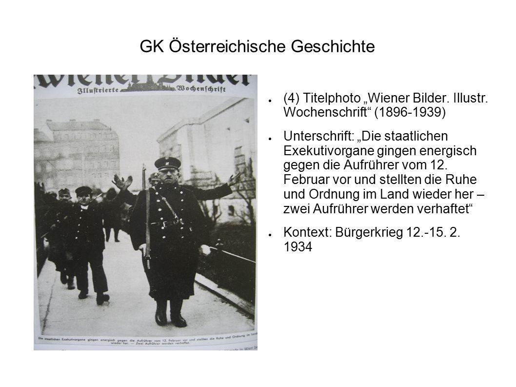 """GK Österreichische Geschichte ● (4) Titelphoto """"Wiener Bilder. Illustr. Wochenschrift"""" (1896-1939) ● Unterschrift: """"Die staatlichen Exekutivorgane gin"""
