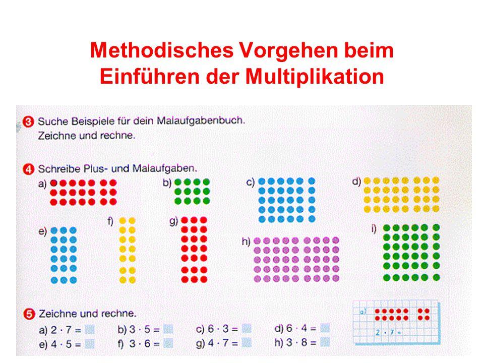 Methodisches Vorgehen beim Einführen der Multiplikation