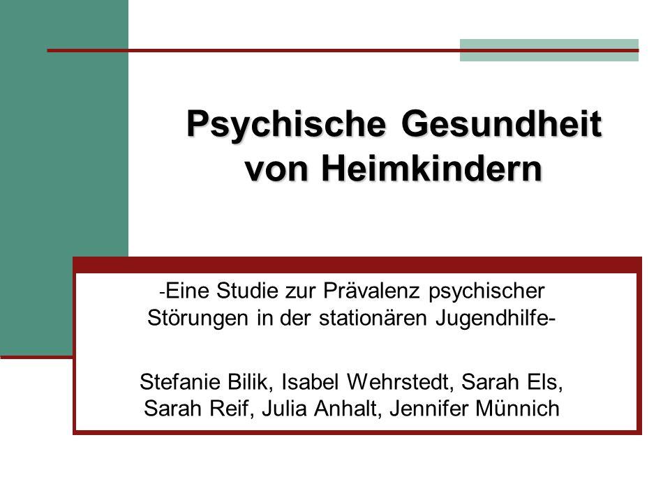 5.2 Schluss Langfristige Verbesserung der Lebenssituation von psychisch belasteten Kindern und Jugendl.