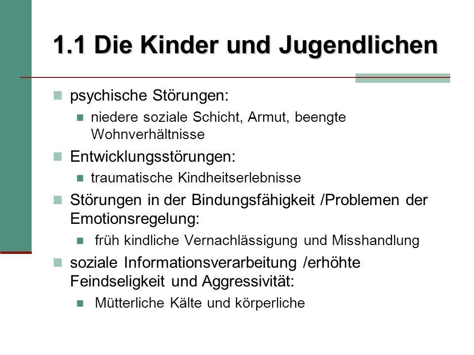 2.3 Verwendete Verfahren 9 Syndromskalen Internalisierende Störung sozialer Rückzug körperliche Beschwerden ängstlich- depressiv externalisierende Störungen dissoziales Verhalten aggressives Verhalten