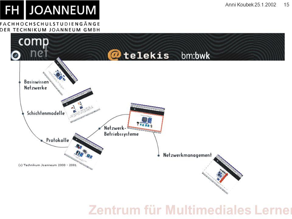 Zentrum für Multimediales Lernen Anni Koubek 25.1.200215