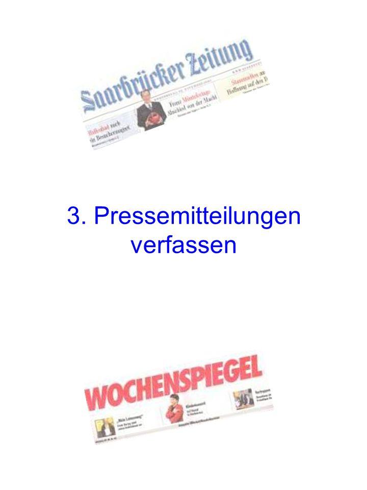 3. Pressemitteilungen verfassen