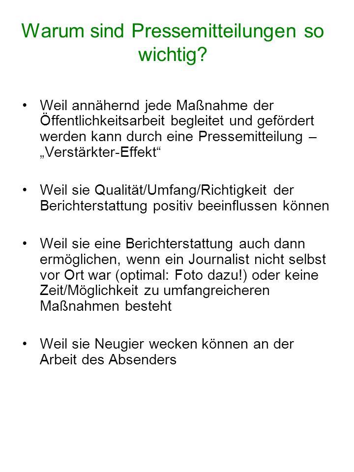 """Die 1:1 – Wiedergabe (meist statt mit Namenskürzel mit dem Redaktionskürzel """"red versehen) Beispiel: Berichterstattung zum Tag der offenen Tür auf der Kläranlage Oberesch (5.9.2006)"""